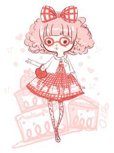 Sweet coordinate illustration by lemontree11 on tumblr.