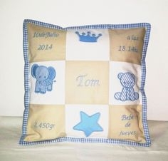 Geburtskissen für Tom Throw Pillows, Bebe, Cushion, Cotton, Decorations, Nice Asses, Cushions, Decorative Pillows, Decor Pillows
