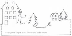 Part 2 of a lovely #Christmas decoration winter scene stencil design for paper crafts, paints, fabric applique or embroidery. I'm trying this with my #silhouette cameo cutter to make fireplace mantel swags.