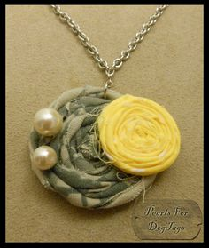 Army ACU and Yellow Rosette Necklace - to wear w/ my yellow dress to the deployment ceremony