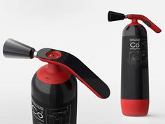 """Von wegen Feuerlöscher müssen immer langweilig aussehen, wie das Design """"Firearc – Fire Extinguisher"""" von Eason Chow Wai Tung zeigt."""