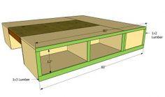 DIY platform bed - I want to make this!