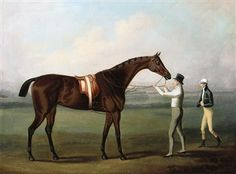 A Bay Racehorse, with Jockey and Owner on Chester Racecourse, by Daniel Clowes (1774-1829)
