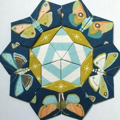 'Passacaglia with Mr Penrose' by Willyne Hammerstein, Millefiori Quilts Hexagon Pattern, Hexagon Quilt, Hexagons, Millefiori Quilts, Snowman Quilt, Paper Pieced Quilt Patterns, English Paper Piecing, Quilt Blocks, Instagram