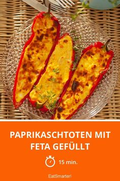 Paprikaschtoten mit Feta gefüllt - smarter - Zeit: 15 Min. | eatsmarter.de