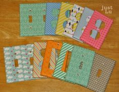 Light Switch Cover Washi Tape Crafts