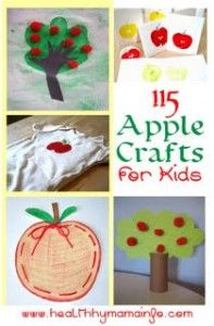 115 Apple Crafts for Kids | Healthy Mama Info