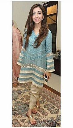 Pakistani Eid outfit by Ayesha Somaya.                                                                                                                                                     More