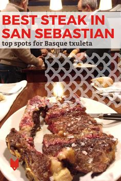 There's a lot to love about San Sebastian. There's La Concha Beach, the picturesque Old Town, the world-famous cheesecake at La Viña—and the steak. Places ranging from Michelin-star restaurants to tapas and pintxos bars will claim to have the best steak in San Sebastian, but who's the real winner? In this guide, we've rounded up the best of the best. Steak Places, Big Steak, Spanish Potatoes, Mini Hamburgers, T Bone Steak, Perfect Steak, Spicy Sausage, Michelin Star, Spain Travel