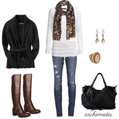 A perfect Sunday outfit.    Relaxing at the Homestead, created by archimedes16 on Polyvore