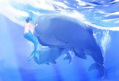 From mametooonyu ...  Free! - Iwatobi Swim Club, free!, iwatobi, haru, haruka, nanase, haruka nanase, haru nanase, merman, mer