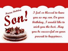 Best birthday wishes for Son from Dad and Mom. These Birthday quotes from son with images, cards, messages, sayings from parents, Happy Birthday Son Quotes Son Birthday Quotes, Happy Birthday Son Images, Happy Birthday Son Wishes, Birthday Messages For Son, Birthday Wishes For Myself, Sons Birthday, Birthday Greetings, Birthday Cakes, Happy Birthdays
