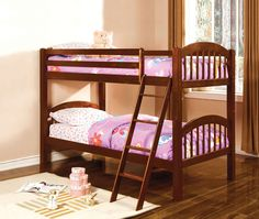 Twin/Twin Bunk Bed Coney Island Collection Cm-Bk524Ch