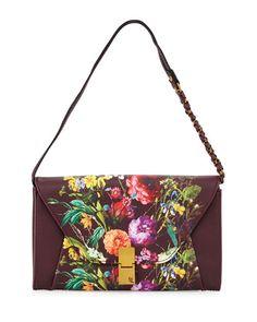 V37ZL Elliott Lucca Cordoba Convertible Floral Faux-Leather Clutch Bag, Multi