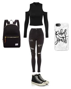 """Untitled #1"" by rysava-natalie on Polyvore featuring Topshop, Converse, Herschel Supply Co. and Casetify"