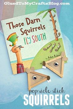 A fun crafts and book activity for kids to do this fall! Make a cute squirrel craft and pair with a fun book! #booksandcrafts #squirrelcrafts