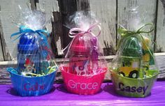 Kid's Fun Personalized Set- by EllerysDesigns on Etsy! Awesome party favors!