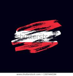 Vector brush painted flag of Republic of Austria isolated on dark blue background. Frayed and scratched the national symbol of the European country Grunge, Vector Brush, National Symbols, Dark Blue Background, Flag Vector, Blue Backgrounds, New Pictures, Royalty Free Photos, Abstract