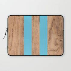Wood Grain Stripes - Light Blue Laptop Sleeve by Natural Collective Co. Geometric Decor, Wood Texture, Wood Grain, Plank, Laptop Sleeves, Hardwood, Grains, Triangle, Light Blue