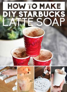 Starbucks Latte Soap 31 Cheap And Easy Last-Minute DIY Gifts They'll Actually Want Craft Gifts, Diy Gifts, Soap Gifts, Starbucks Latte, Starbucks Diys, Coffee Latte, Navidad Diy, Idee Diy, Diy Weihnachten