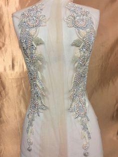 Designer Full body Rhinestone Applique Pair Beaded Wedding