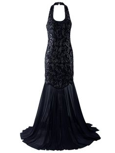Vijiv Halter Mermaid Evening Dress For Women Formal Long Prom Dress, Black, Small Sequin Evening Dresses, Long Prom Gowns, Mermaid Evening Dresses, Prom Dresses, Formal Dresses, Casual Dresses For Women, Dresses For Work, Junior Dresses, Dress Brands