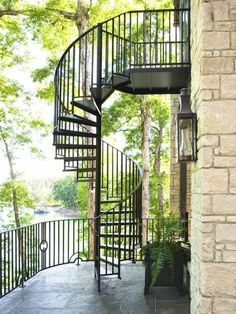Exterior Design Exterior stairs spiral staircase made of metal