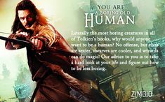 I took Zimbio's 'Hobbit' personality quiz, and I'm A Boring Old Human. What are you? #ZimbioQuiznull - Quiz