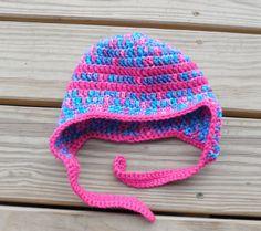 Crochet Toddler Hat Toddler 1 3 years  Toddler Ear by GabbysQuilts