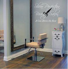 Personalized Beauty Salon28H x 38W Vinyl by VinylDesignCreations, $40.00