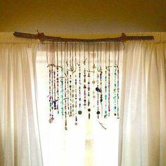 Beaded Suncatcher-use up your bead stash and make something beautiful and creative!