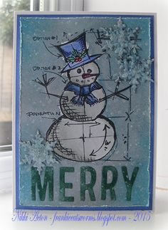 Country View Crafts' Projects: Distress Glazed Snowman