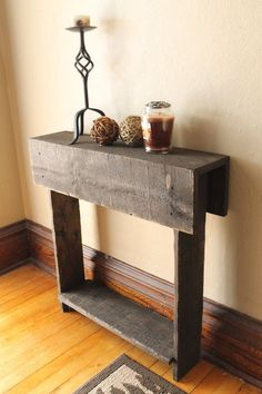 Rustic Entry Table, Reclaimed Wood Table, Entry Way, Shoe Holder, Mudroom Organizer, Farmhouse Entry Table, Console Table by latoya