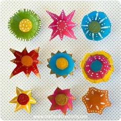Egg carton flower lights - by Craft & Creativity