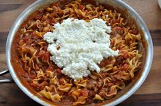 Skillet Lasagna ~ http://www.southernplate.com
