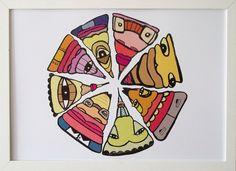Pizza Art Print.