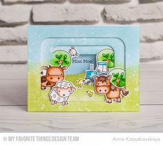 My Favorite Things FARM FRIENDS Clear Stamps CS178 zoom image