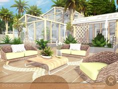 The Sims Resource: Coconut house by Pralinesims • Sims 4 Downloads