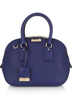 Burberry Shoes & Accessories|Orchard small textured-leather bowling bag|NET-A-PORTER.COM