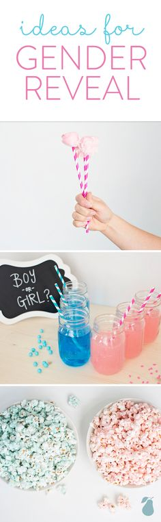 Click to read about our top 5 gender reveal ideas! #genderreveal #peartreegreetings