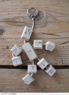 Keyboard Man Key Chain - Totally cute and creative. Would make that lovely keyboard sound.