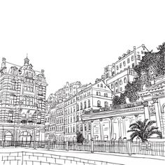 prague dancing house coloring page