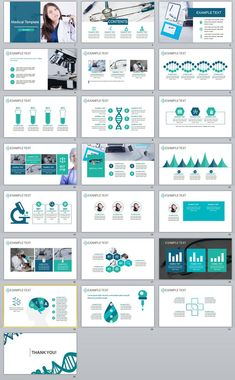 Business infographic : 22 Best medical industry PowerPoint templates on Behance #powerpoint #templates