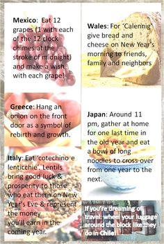New Year's food traditions around the globe! New Years Tradition Food, New Year's Eve Food Traditions, New Years Traditions, Holiday Traditions, New Years Day Meal, New Years Eve Food, New Years Party, New Year Day Food, New Years Superstitions
