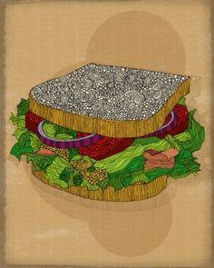 Sandwich by Valentina by adelenetie