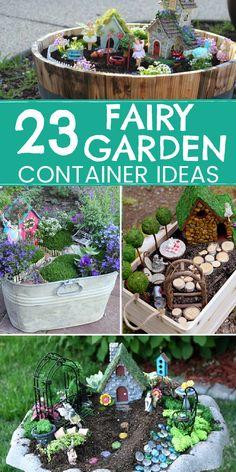 23 Unique Outdoor Fairy Garden Container Ideas