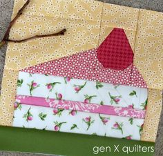 cake block 318 by AM of Gen X Quilters, via Flickr