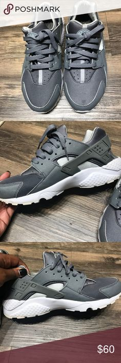 Nike Huaraches Gray Nike huaraches. 7Y (big kids) fits an 8-8