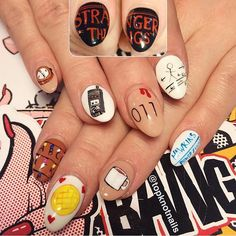 stranger things nail art