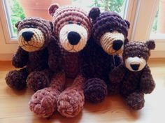 How to make the easiest crochet bear. Pattern. Step by step.